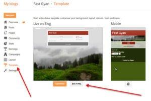 Google site verification code blogger