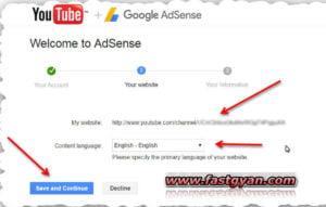 adsense youtube setting