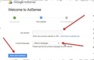 google adsense setting