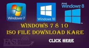 Windows 7 8 10 ISO File Download Kare