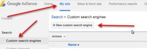custom search engines