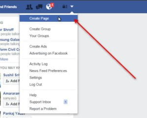 Facebook Business create page