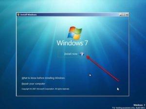 windows 7 install now