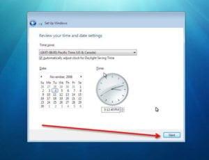 windows 7 time zone setting