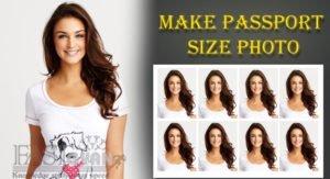 make passport size photo