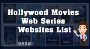 Hollywood Movies and Web Series Websites List